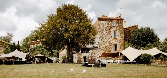 Photo d'un lieu de réception de mariage en France.