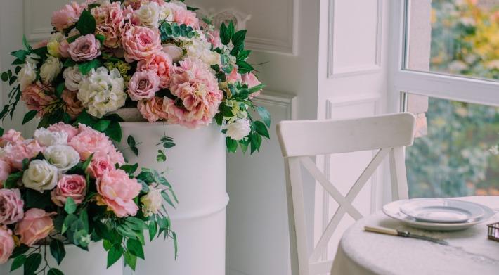 Photo d'un bouquet de mariage préparé près de Lempdes à Clermont-Ferrand par un fleuriste
