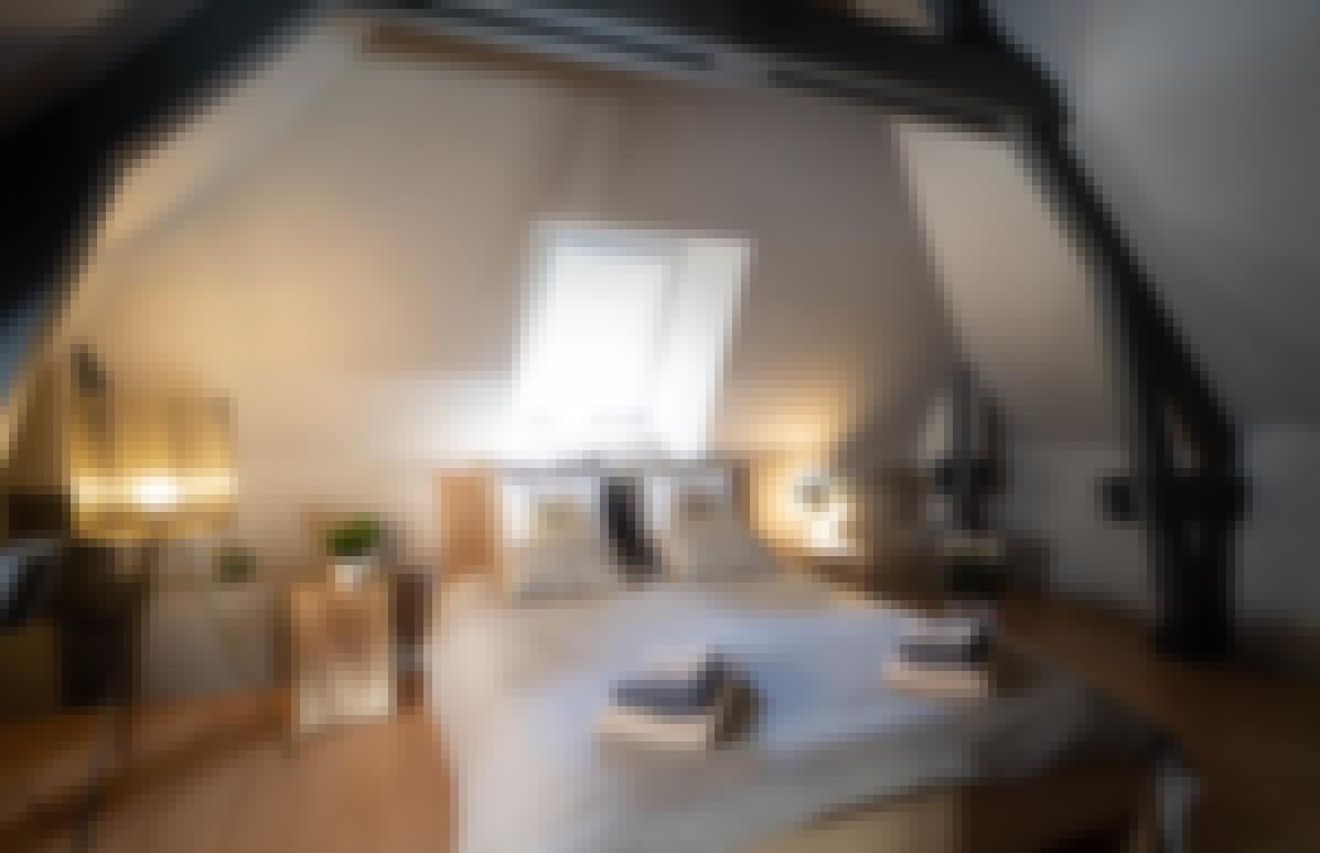Photo d'une chambre double du gîte de Bois Rigaud en Auvergne avec un jacuzzi privatif