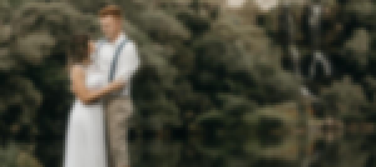 Photo d'un mariage organisé à deux en petit comité'