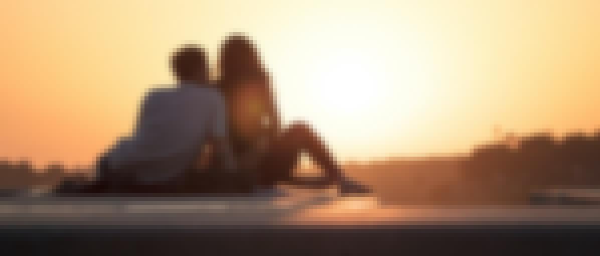 Photo d'un couple lors d'un voyage de noces
