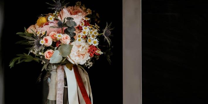 Photo d'un bouquet de mariée.