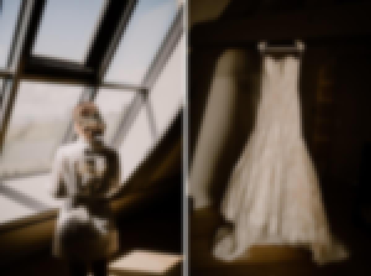 Photo des préparatifs d'un mariage simple en Auvergne, au château de Bois Rigaud