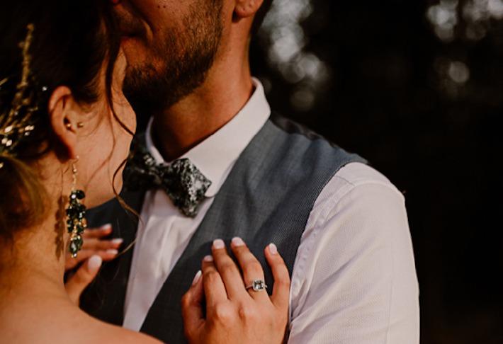Photo du mariage de J et M prise au château de Bois Rigaud en août 2019