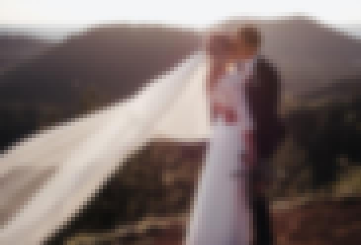 Photo du mariage de F et I prise au château de Bois Rigaud en juin 2019