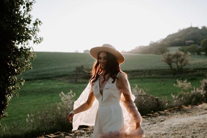 Robe de mariée proposée par la marque By Romance.