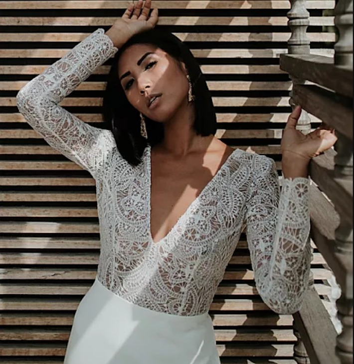 Robe de mariée proposée par la marque Manon Gontero.
