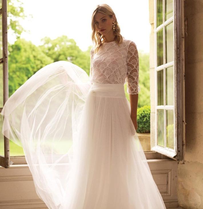Robe de mariée Elvira proposée par la marque Marie Laporte.