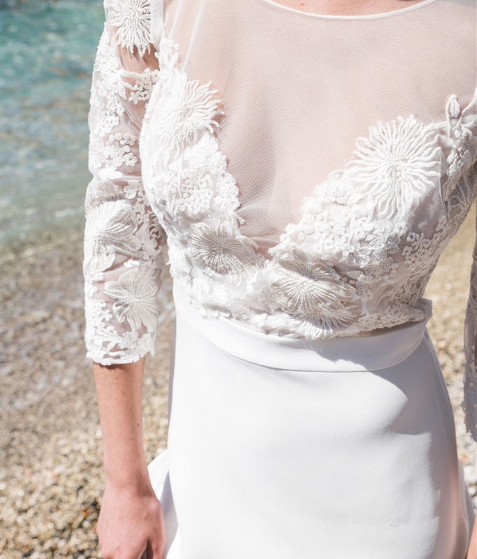 Robe de mariée proposée par la marque Jeanne Source.