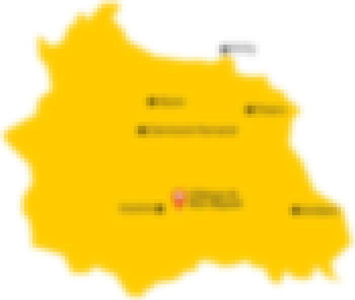 Carte du Puy-de-Dôme avec indication de la proximité avec le Château de Bois Rigaud