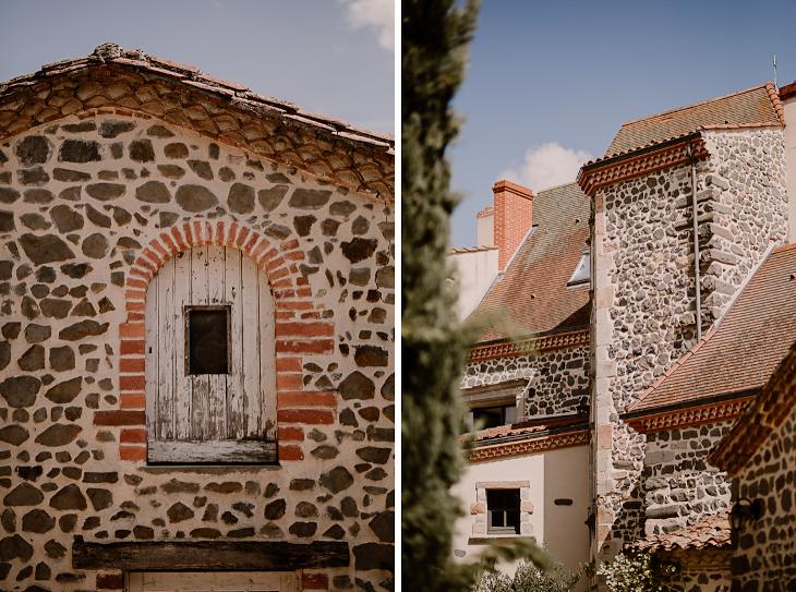 Façade du Château de Bois Rigaud dans le Puy-de-Dôme près de Clermont-Ferrand