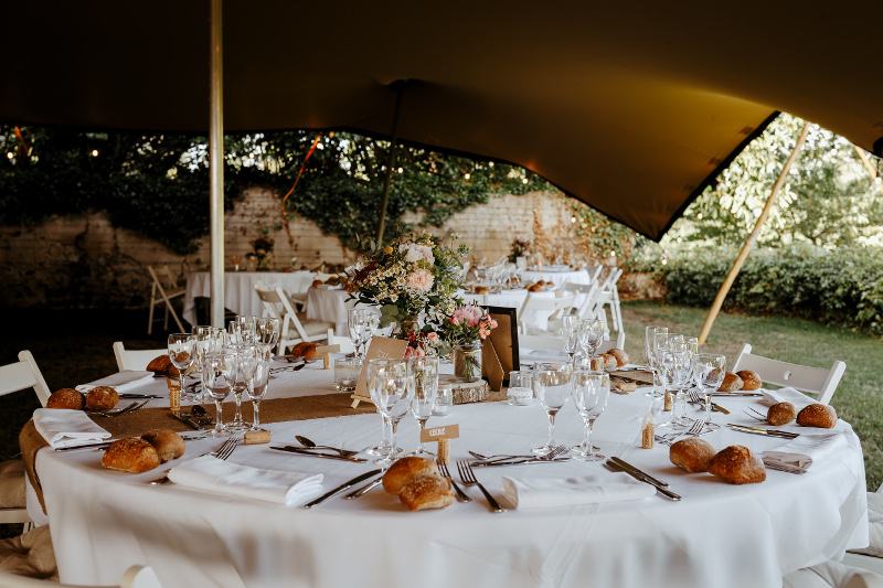 Wedding dinner and celebration taking place in France, at chateau de Bois Rigaud in Auvergne Rhone Alpes
