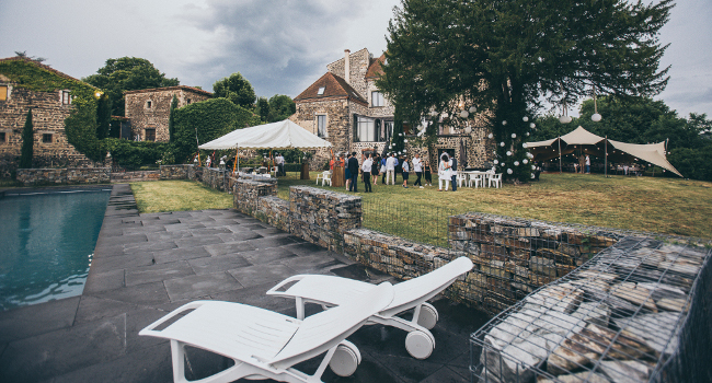 Piscine du château de Bois Rigaud dans le Puy-de-Dôme