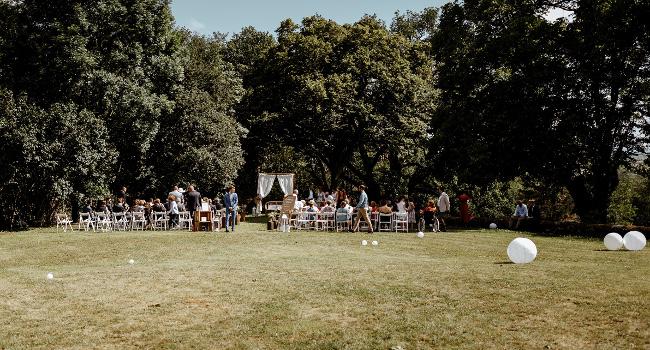 Photos des jardins du château de Bois Rigaud prise à l'occasion d'un mariage