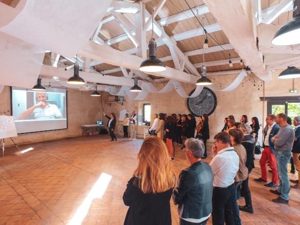 Photo d'un séminaire d'entreprise organisé au château de Bois Rigaud dans le Puy-de-Dôme