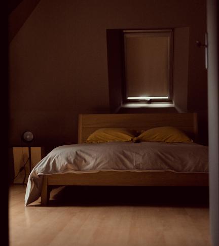 Photo d'une chambre double prise au château de Bois Rigaud près d'Issoire à l'occasion d'un séminaire résidentiel